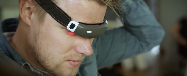 Slight lithium ion polymer battery for health tracking headband